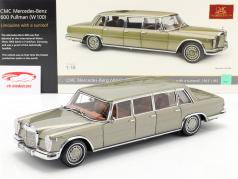 Mercedes-Benz Pullman (W 100) Limousine Met zonnedak nerts Grijs 1:18 CMC
