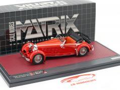 Mercedes-Benz 680S Armbruster Roadster Open Bouwjaar 1928-1932 rood 1:43 Matrix