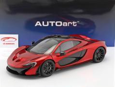 McLaren P1 year 2013 volcano red 1:12 AUTOart