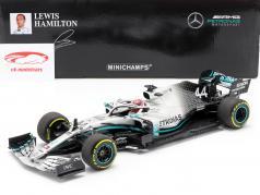 L. Hamilton Mercedes-AMG F1 W10 #44 Campione del mondo Cina GP F1 2019 1:18 Minichamps