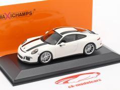 Porsche 911 R Byggeår 2016 hvid / sort 1:43 Minichamps