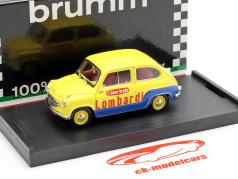 Fiat 600 Brodo Lombardi 1960 Veicolo Commerciale amarillo / azul 1:43 Brumm