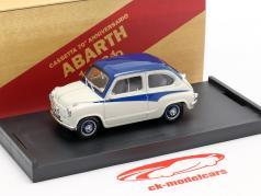 Fiat 600 Derivazione Abarth 750 Année de construction 1956 blanc / bleu 1:43 Brumm