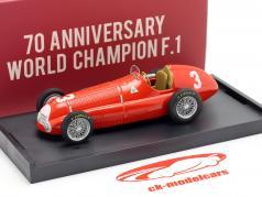 Luigi Fagioli Alfa Romeo 158 #3 2e Grande Bretagne GP formule 1 1950 1:43 Brumm