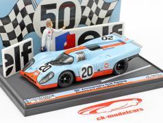 Porsche 917K #20 24h LeMans 1970 50e Verjaardag Gulf Racing 1:43 Brumm