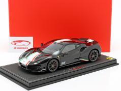 Ferrari 488 Pista Piloti 建设年份 2018 黑色 1:18 BBR