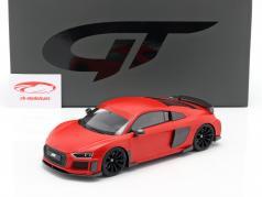 Audi R8 ABT Anno di costruzione 2019 smerigliato rosso 1:18 GT-SPIRIT
