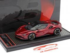 Ferrari SF90 Stradale 建设年份 2019 深红 金属的 / 黑色 1:43 BBR