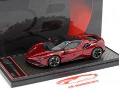 Ferrari SF90 Stradale Anno di costruzione 2019 rosso scuro metallico / nero 1:43 BBR