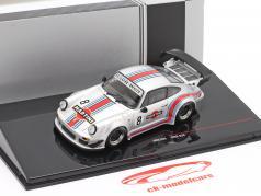 Porsche 911 (930) RWB #8 Rauh-Welt Martini zilver 1:43 Ixo