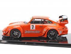 Porsche 911 (993) RWB #7 Rauh-Welt Jägermeister naranja 1:43 Ixo