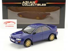 Subaru Impreza ano 1996 azul 1:18 Sun Star