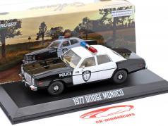 Dodge Monaco Police Byggeår 1977 sort / hvid 1:43 Greenlight