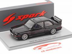 BMW M3 Sport Evolution Año de construcción 1990 negro 1:43 Spark