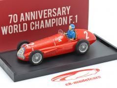 Juan Manuel Fangio Alfa Romeo 159 #2 Champion du monde Belgique GP F1 1951 1:43 Brumm