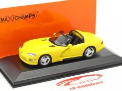 Dodge Viper Roadster 年 1993 黄色 1:43 Minichamps