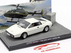 Lotus Esprit James Bond Movie Car The Spy Who Loved Me white 1:43 Ixo