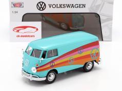 Volkswagen VW Type 2 (T1) Delivery Van turkoois metalen 1:24 MotorMax