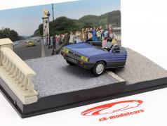 Renault 11 Taxi James Bond Film Auto In het aangezicht van de dood blauwe 1:43 Ixo