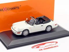 Porsche 911 Carrera 4 Cabriolet year 1990 white 1:43 Minichamps