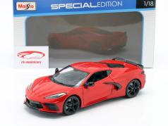 Chevrolet Corvette C8 Stingray year 2020 red 1:18 Maisto