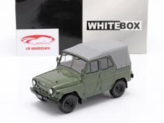 UAZ 469 olijf- groen 1:24 WhiteBox