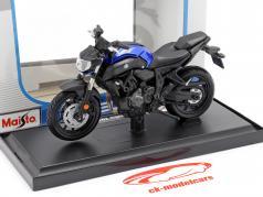 Yamaha MT-07 Bouwjaar 2018 blauw / zwart 1:18 Maisto