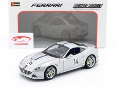 Ferrari California T #14 The Hot Rod 70th Anniversary Collection sølv 1:18 Bburago