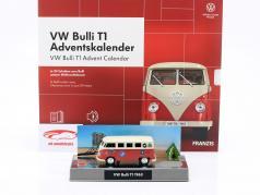 VW Bulli T1 Advent kalender 2020: Volkswagen VW Bulli T1 rood 1:43 Franzis
