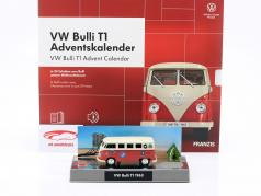 VW Bulli T1 Adventskalender 2020: Volkswagen VW Bulli T1 rot 1:43 Franzis