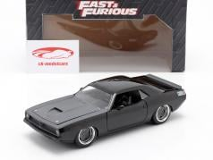Letty's Plymouth Barracuda 1970 Fast & Furious 7 (2015) schwarz 1:24 Jada Toys