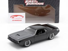 Letty's Plymouth Barracuda 1970 Fast & Furious 7 (2015) noir 1:24 Jada Toys