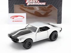 Roman's Chevrolet Camaro 1967 Fast & Furious 7 (2015) zilver 1:24 Jada Toys
