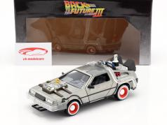 DeLorean Time Machine Back to the Future III (1990) argent 1:24 Jada Toys