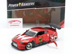Nissan GT-R (R35) 2009 mit Figur Red Ranger Power Rangers 1:24 Jada Toys