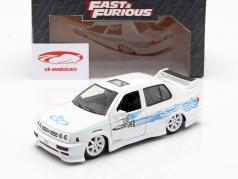 Jesse's Volkswagen VW Jetta A3 aus dem Film Fast & Furious 2001 weiß / blau 1:24 Jada Toys