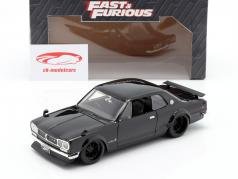 Brian's Nissan Skyline 2000 GTR film Fast & Furious Five (2011) zwart 1:24 Jada Toys