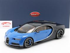 Bugatti Chiron year 2017 french racing blue / atlantic blue 1:12 AUTOart