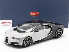 Bugatti Chiron Byggeår 2017 gletscher hvid / atlantic blå 1:12 AUTOart