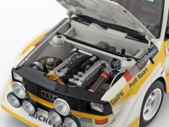 Audi Quattro S1 #2 4th Rallye Monte Carlo 1986 Röhrl, Geistdörfer 1:18 AUTOart