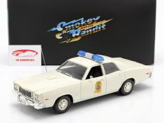 Plymouth Fury Highway Patrol 1975 Smokey and the Bandit 1977 bianca 1:18 Greenlight