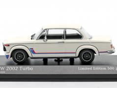 BMW 2002 Turbo (E20) Année de construction 1973 blanc 1:43 Minichamps