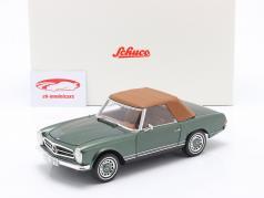 Mercedes-Benz 280 SL Pagode (W113) Ano 1963 - 1971 verde metálico 1:18 Schuco