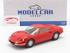 Ferrari Dino 246 GT Ano de construção 1969 vermelho 1:18 Model Car Group