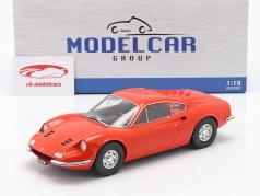 Ferrari Dino 246 GT Ano de construção 1969 laranja 1:18 Model Car Group
