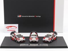 3-car Set Toyota Gazoo Racing WRC 2018 Series Manufacturer's Champion 1:43 Spark