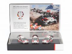 3 auto Set Toyota Gazoo Racing WRC 2018 Series Produttore campione 1:43 Spark