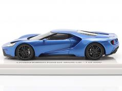 Ford GT Showcar blauw metalen 1:43 TrueScale