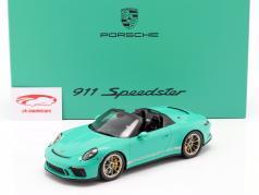 Porsche 911 (991 II) Speedster 翡翠绿 用 展示柜 1:18 Spark