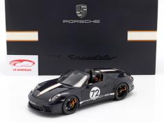 Porsche 911 (991 II) Speedster #72 dark sea blue with showcase 1:18 Spark